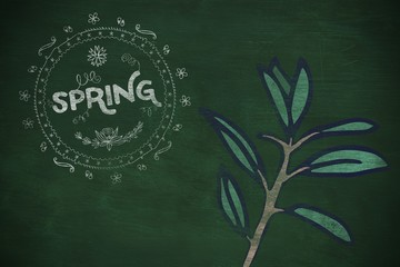 Composite image of spring logo against background