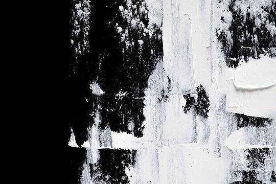 Macro of white brush strokes
