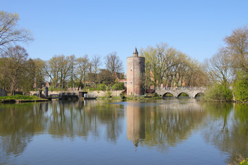Minnewaterpark, Brügge, Brugge, See der Liebe, Turm, Tower