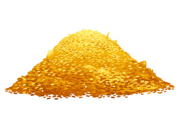 Pile of Gold Coins Wall mural