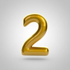 Metallic paint golden number 2