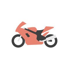 Flat icon - Motorcycle