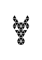 Horse head icon, Vector