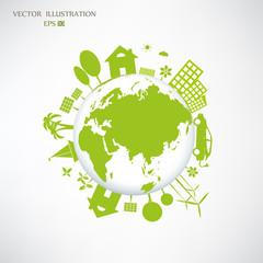 Environmentally friendly world.
