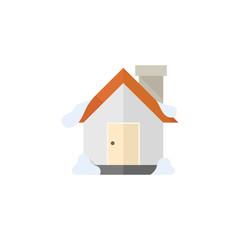 Flat icon - House