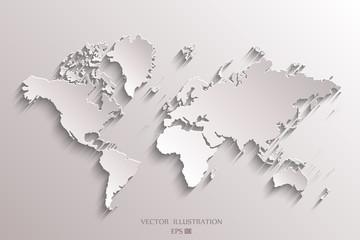 World map Paper.
