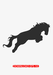 Horse attack icon, Vector