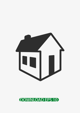 3D house icon, Vector
