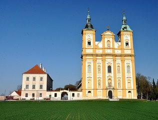 historic monastery, the village of Dub, Moravia, Czech Republic, Europe