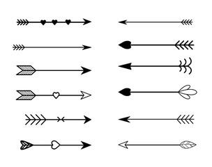 Rustic arrow set vector