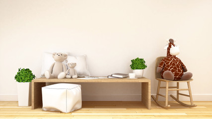 kid room or family room-3d rendering