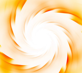 White and orange abstract background. Spiral rays of sunflare. Sun energy explosion texture. Fractal pattern.