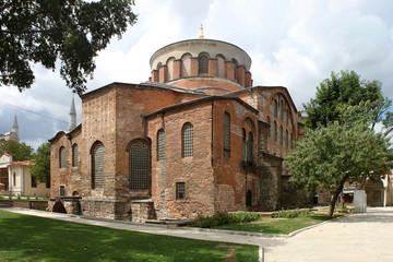 Apsis und Kuppel der byzantinischen Kirche St. Irene in Istanbul, Türkei