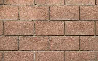 Closeup of a decorative brick wall