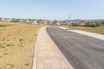 Neue Bauplätze im Neubaugebiet