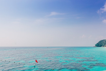 Phuket thailand andaman sea surface summer wave background. Maiton island