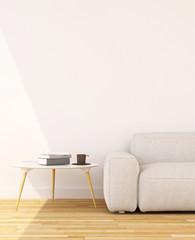 living room clean design - 3d rendering