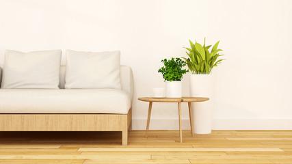 Living room clean design-3D Rendering