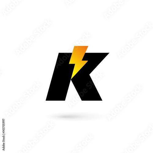 Letter k lightning logo icon design template elements stock image letter k lightning logo icon design template elements spiritdancerdesigns Images