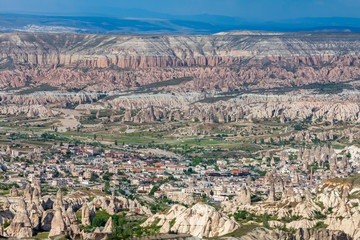Panorama Red and Rose Valley, Cappadocia, Turkey