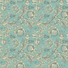 Colorful antique floral pattern. Vector illustration