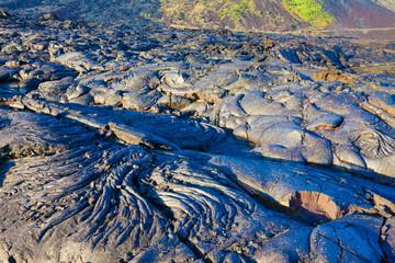 Molten cooled lava