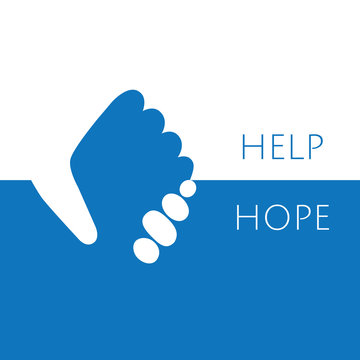 Help and hope logo graphic design