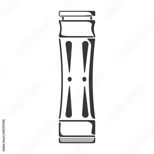 Black tube style engraved mechanical mod icon