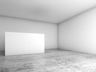Abstract empty white interior background