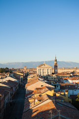 View of Cittadella, walled city in Italy