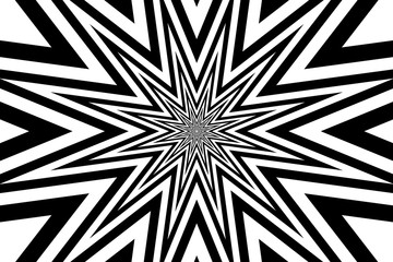 star - abstract geometric black background