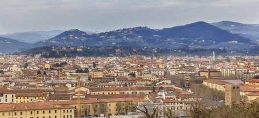 Panorama of Florence from the observation deck