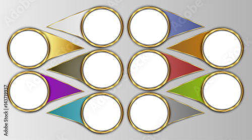 circle template circle label blank for design or text fotolia com