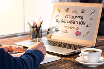 Customer Satisfaction Concept On Laptop Monitor
