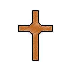 Christianity cross symbol icon vector illustration graphic design