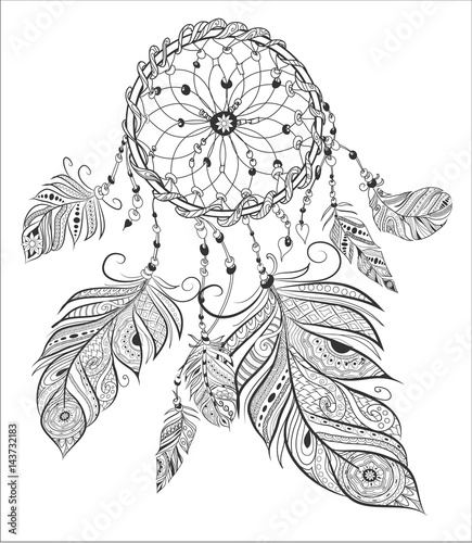 Dream Catcher Adult Coloring Book Page