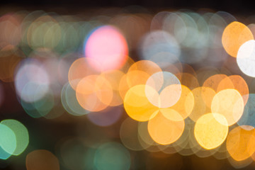 Abstract background of colorful streetlights. Bokeh