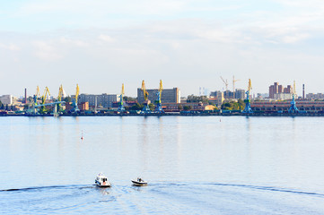 Architecture of Saint Petersburg, an important Russian port on the Baltic Sea