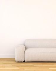 Sofa in living room clean design - 3d rendering