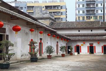 Crane Lake village in Shenzhen, landmark Hakka village in China