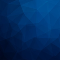 Polygonal dark blue vector background. Can be used in cover design, book design, website background. Vector illustration