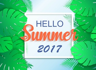 Hello summer 2017 universal tropical background