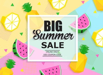 Summer sale colorful banner