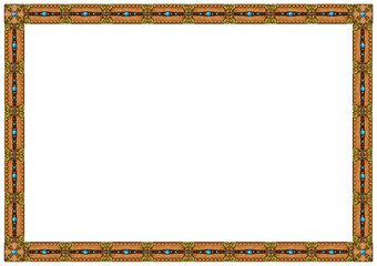 Exquisite wooden frame with carved ornaments