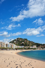 Beach in Blanes Town on Costa Brava in Spain