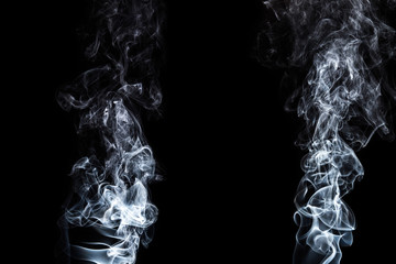 Fototapete - Movement of white smoke.