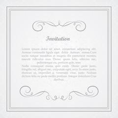 Vector decorative frame. Elegant element for design template.