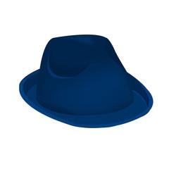blue navy unisex fashion hat, summer panama hat isolated vector