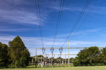 Elektrizität Umspannwerk Stromleitungen