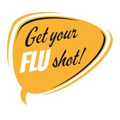 get your flu shot speech balloon